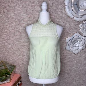 [lacey] High Neck Lace Blouse